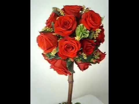 Topiario En Rosas Rojas