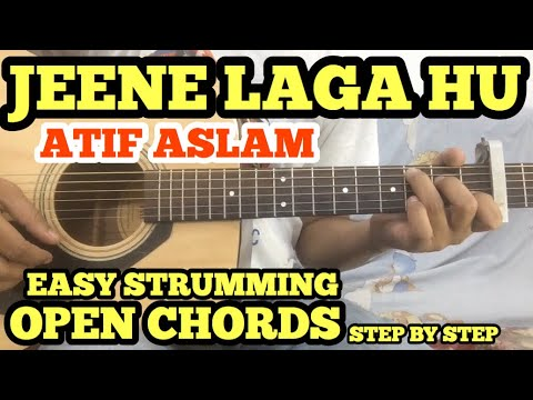 Jeene Laga Hoon Guitar Chords Lesson With intro TABS | Atif Aslam | OPEN CHORDS l Ramaiya Vastavaiya