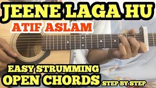 Download Jeene Laga Hoon Guitar Chords Lesson With intro TABS   Atif Aslam   OPEN CHORDS l Ramaiya Vastavaiya MP3 song and Music Video