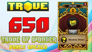 Scythe's Trove Special ✪ 650 TROVE OF WONDER CHESTS UNBOXED!