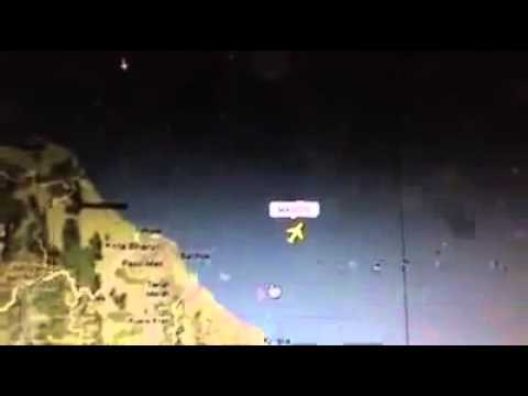 Video: Chilling moment Malaysian Airlines plane vanishes from live online flight tracker