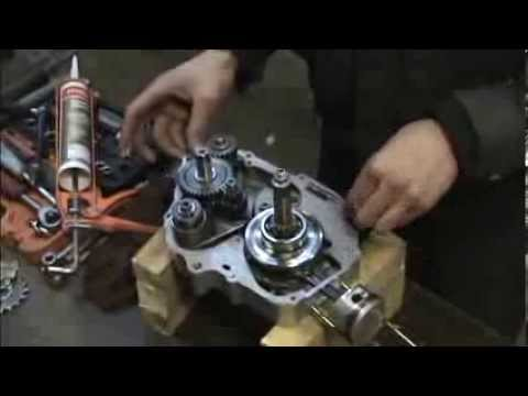 Chinese dirt bike gearbox assembly - YouTube