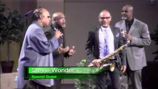 Stevie Wonder and Kirk Whalum at True Vision Church
