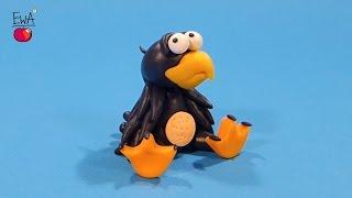 Raven - Kruk z modeliny - polymer clay tutorial