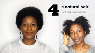 I Used A Texturizer To Soften My Natural 4C Hair