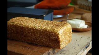 Тостовый хлеб с кунжутом на закваске