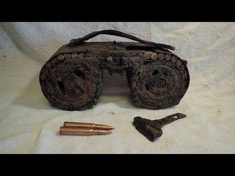 Чистка немецкого авиационного пулемёта MG 15