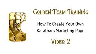 Wie man Erstellen Sie Ihre Eigenen Marketing-Seiten für Karatbars - K-Kaufmann (Video 2 von 3)