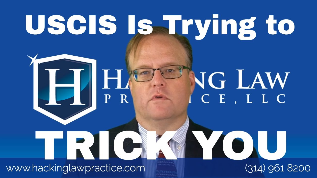 A New USCIS Trick in Spouse Cases - Hacking Law Practice, LLC
