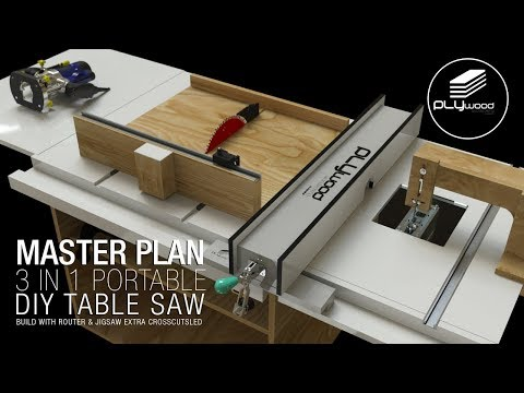 Homemade portable 3 in 1 table saw master plan part 2