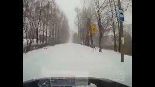 Subaru Forester turbo 2.0 170 л.с. Сильный снегопад. Город Реж 18.10.14.