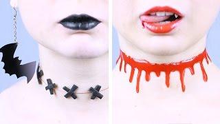 DIY Украшения к Хэллоуину | Чокеры СВОИМИ РУКАМИ | Halloween 🐞 Afinka