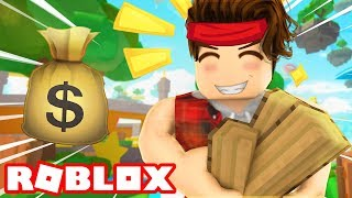 MAKING MAD CASH IN ROBLOX WOOD CHOPPING SIMULATOR!