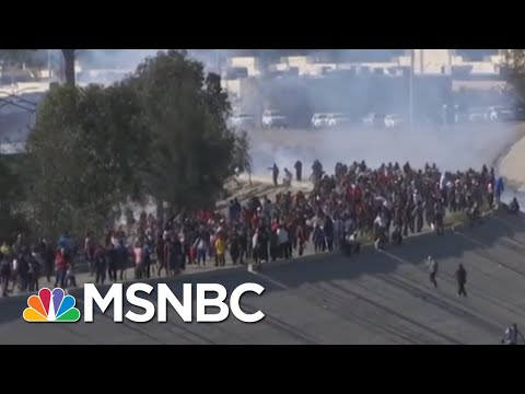 Violent Day At The Border Results In 80 Arrests And High Tensions | Velshi & Ruhle | MSNBC