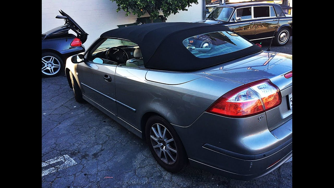 2004 Saab 9 3 Convertible Top Replacement Youtube