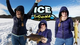 Ice fishing in New Hampshire - On the Search for Mrs Tight Lines PB Smallmouth Bass