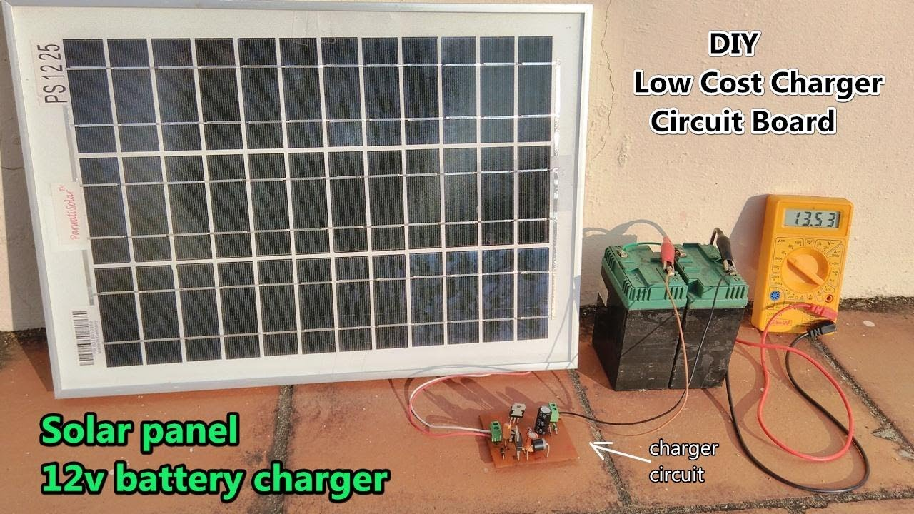 12v Solar Battery Charger  DIY Charger Control    Circuit    Board  POWER GEN  YouTube