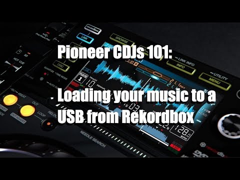 Beginner DJ tutorial for Pioneer CDJs [How to load your music with a USB device]