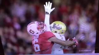 Francis Owusu, Stanford WR Caught UCLA's Wadood, And Ball For TD