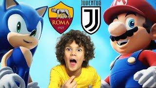 ROMA vs JUVENTUS (Mario Sonic Calcio) *GamePlay Wii U, Roma Juve, Serie A**