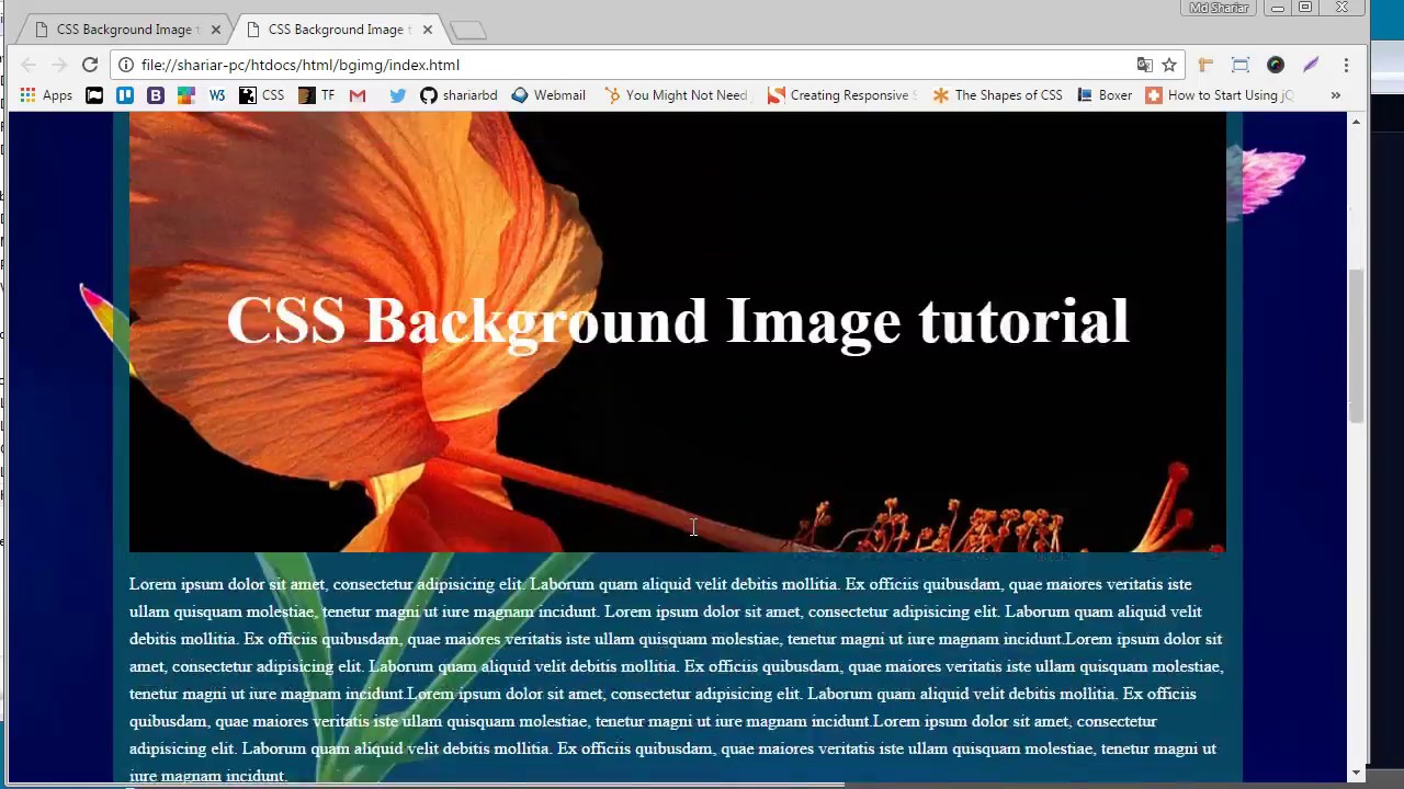 CSS Background Image Tutorial   YouTube