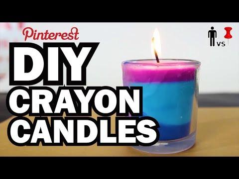 DIY Crayon Candles - Man Vs Pin - Pinterest Test #54