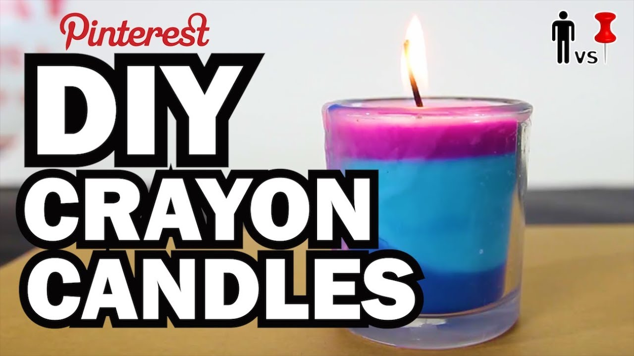 Diy Candles Diy Crayon Candles Man Vs Pin Pinterest Test 54 Youtube