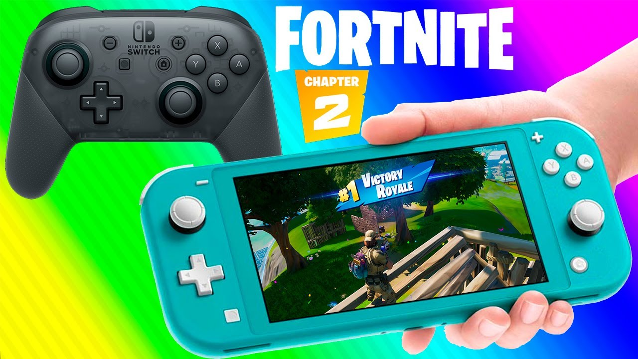 Fortnite Chater 2 Pro Controller Gameplay On Nintendo Switch Lite