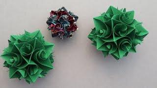 Easy Modular Origami Ball - Curling Kusudama