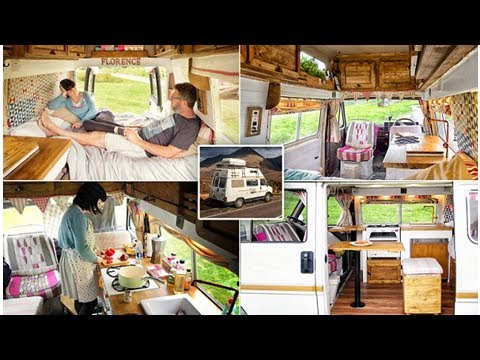 Couple transform vintage van into a camper they use to roam Britain in