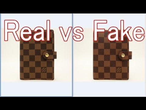 brand new 3f2c5 c5b7e Real vs Fake Louis Vuitton Damier Agenda fonctionnel PM Diary cover R20700  LV