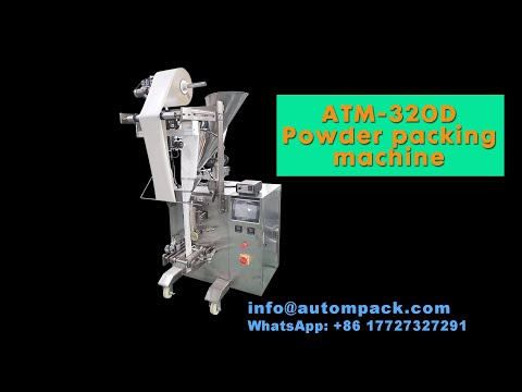 ATM-320D Automatic Small Tea Bag/ Filter Paper Tea Powder Sachet Pouch Packing Machine#Autompack