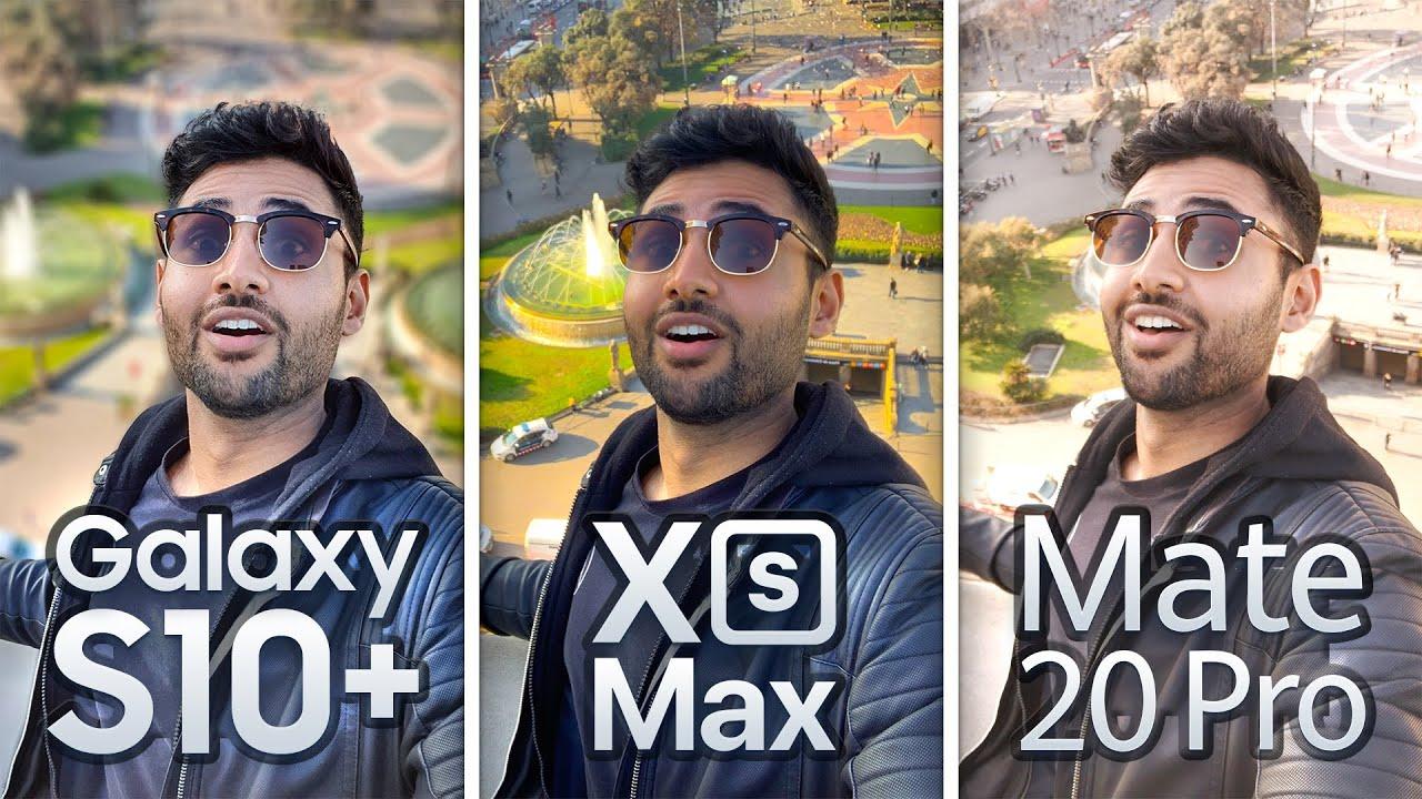 Samsung S10 Plus im Vergleich zum iPhone XS Max / Mate 20 Pro EXTREME Kameratest + video