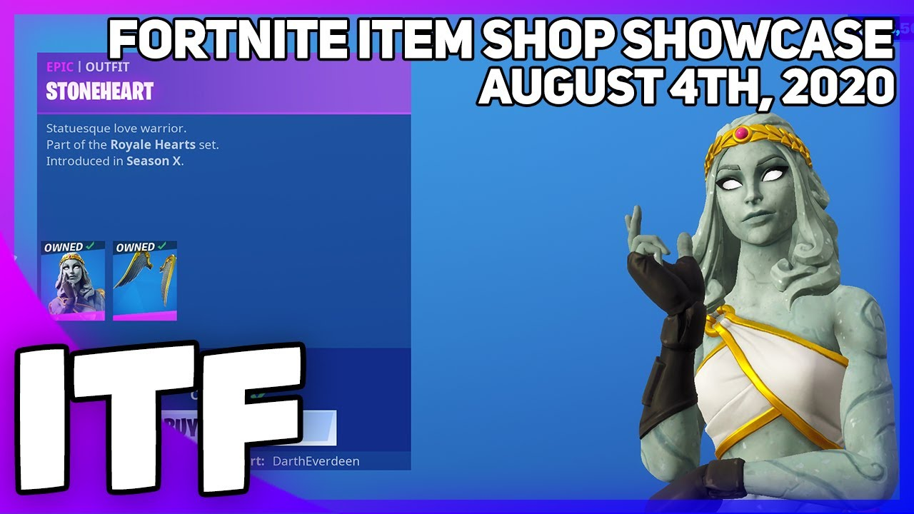 Fortnite Item Shop STONEHEART IS BACK! [August 4th, 2020] (Fortnite Battle Royale)