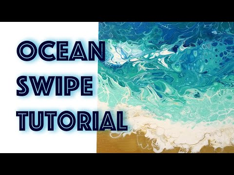#1 Ocean Swipe Tutorial / Fluid Art / Acrylic pour Painting