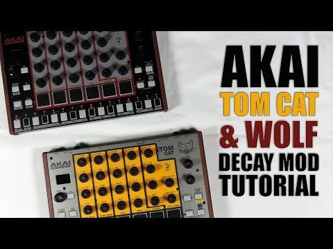 Akai rhythm WOLF / tom CAT DECAY MOD TUTORIAL