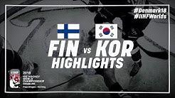 Game Highlights: Finland vs Korea May 5 2018   #IIHFWorlds 2018