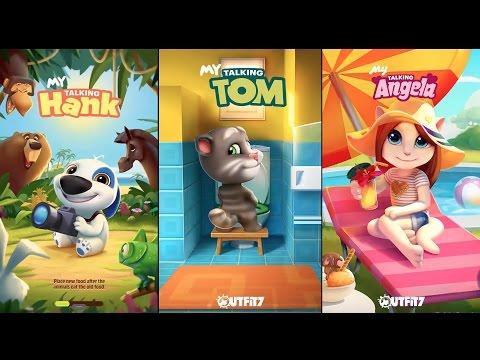 My Talking Hank versus My Talking Tom versus My Talking Angela Gameplay HD