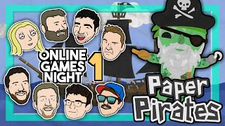 Paper Pirates - New social deduction game on a haunted ship // Online Games Night #1 - PART 3