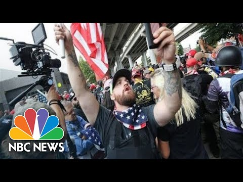Watch Live: Far-Right, Extremist Groups Clash In Portland, Oregon | NBC News