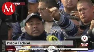 Policías Federales mandan mensaje a AMLO