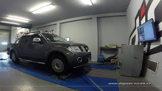 Nissan Navara 3.0 dci 231cv AUTO Reprogrammation Moteur @ 267cv Digiservices Paris 77 Dyno