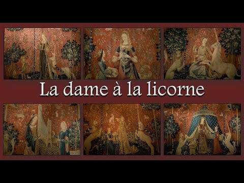 La dame la licorne youtube - Tapisserie dame a la licorne ...