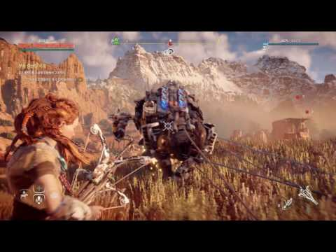 [PS4] Horizon Zero Dawn Side Quests 17 - Hunting Grounds (Greatrun - Parts Wrangling Trial)
