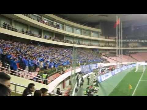 Shanghai Shenhua football soccer singing fans supporters
