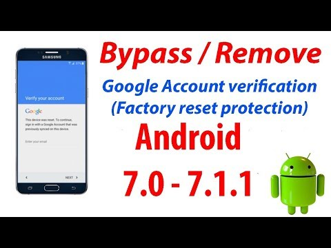 Bypass Google Account Samsung Galaxy A7 (16)  Android 7.0 with Odin & Samsung FRP Tool
