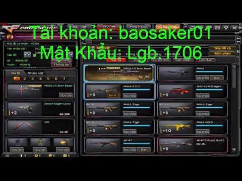ACC VIP Part 2 3Z Bornbeast, M4A1 Gold, AK báu vật các loại Share acc CF Cộng  đồng CF VIP