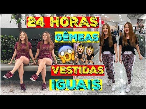 Download 24 HORAS GÊMEAS VESTIDAS IGUAIS!! 😱 - Sisters Lellis
