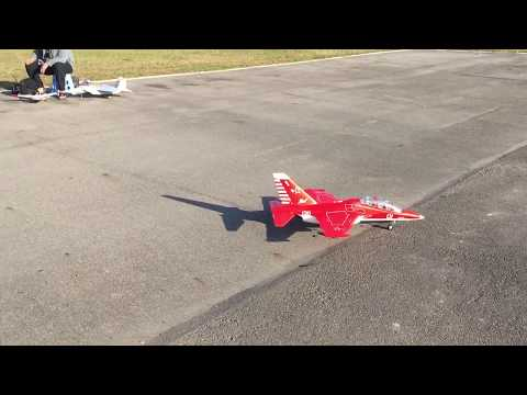 My FMS YAK130 70mm edf jet Chinese new year flight low pass