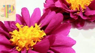 How To Make Flowers With Paper Как сделать цветы из бумаги
